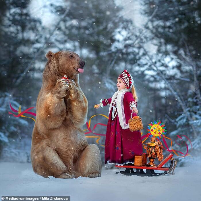 Gấu bị bỏ rơi trở thành mẫu ảnh chuyên nghiệp