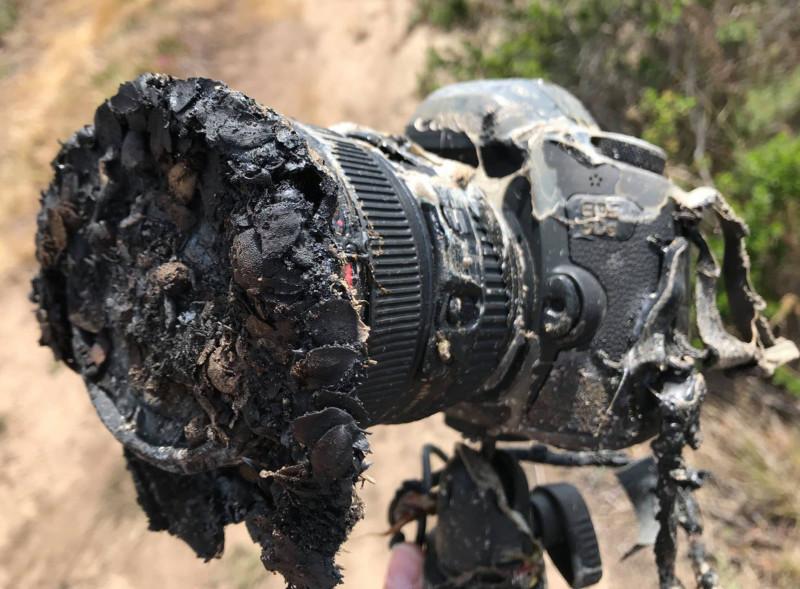 Canon 5DS tan chảy khi ghi lại hình ảnh vụ phóng tên lửa