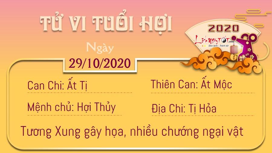 Tử vi thứ 5 ngày 29/10/2020 của 12 con giáp: Mão rắc rối, Hợi gian nan