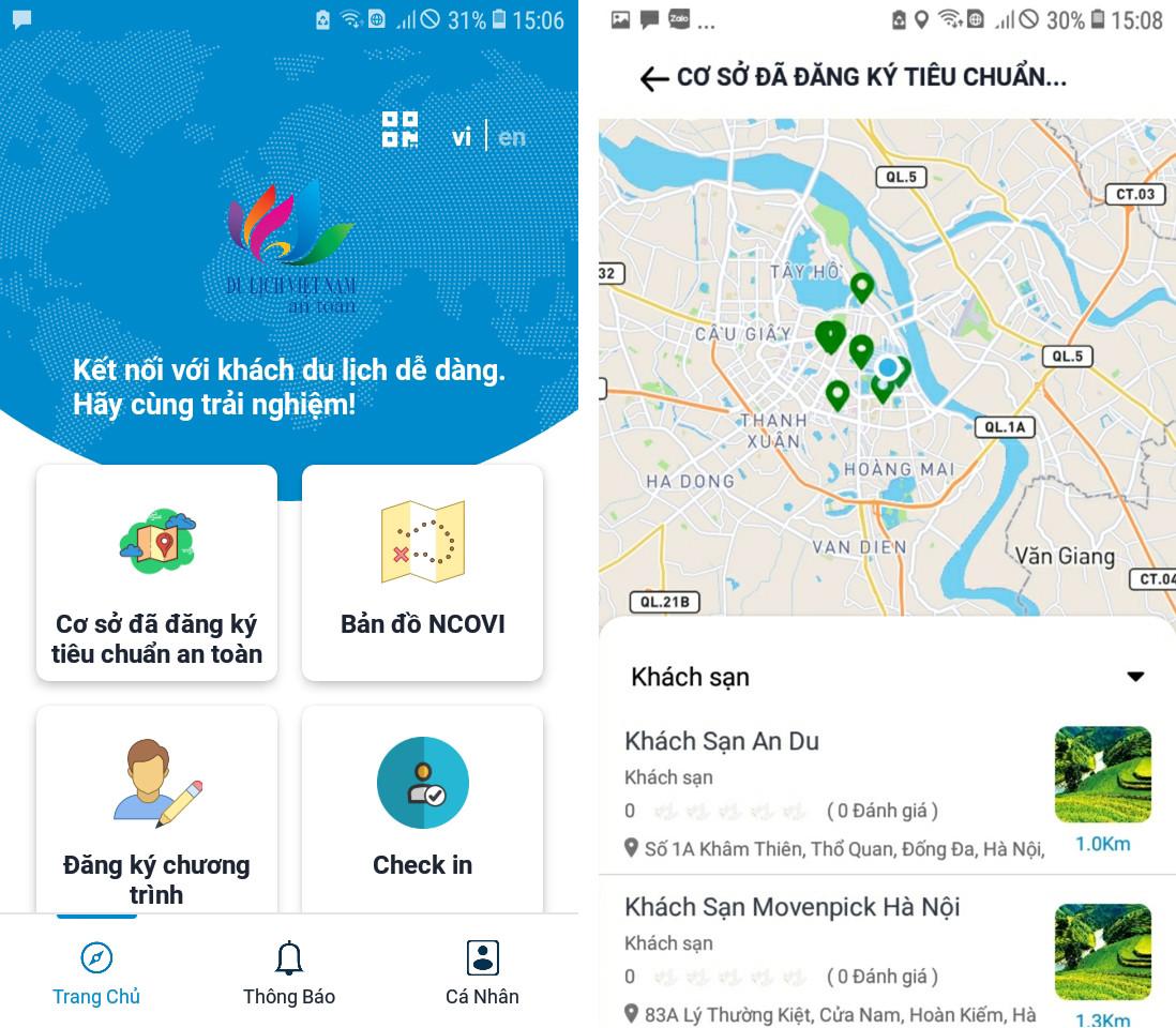 """Chuẩn bị ra mắt ứng dụng """"Du lịch Việt Nam an toàn"""""""