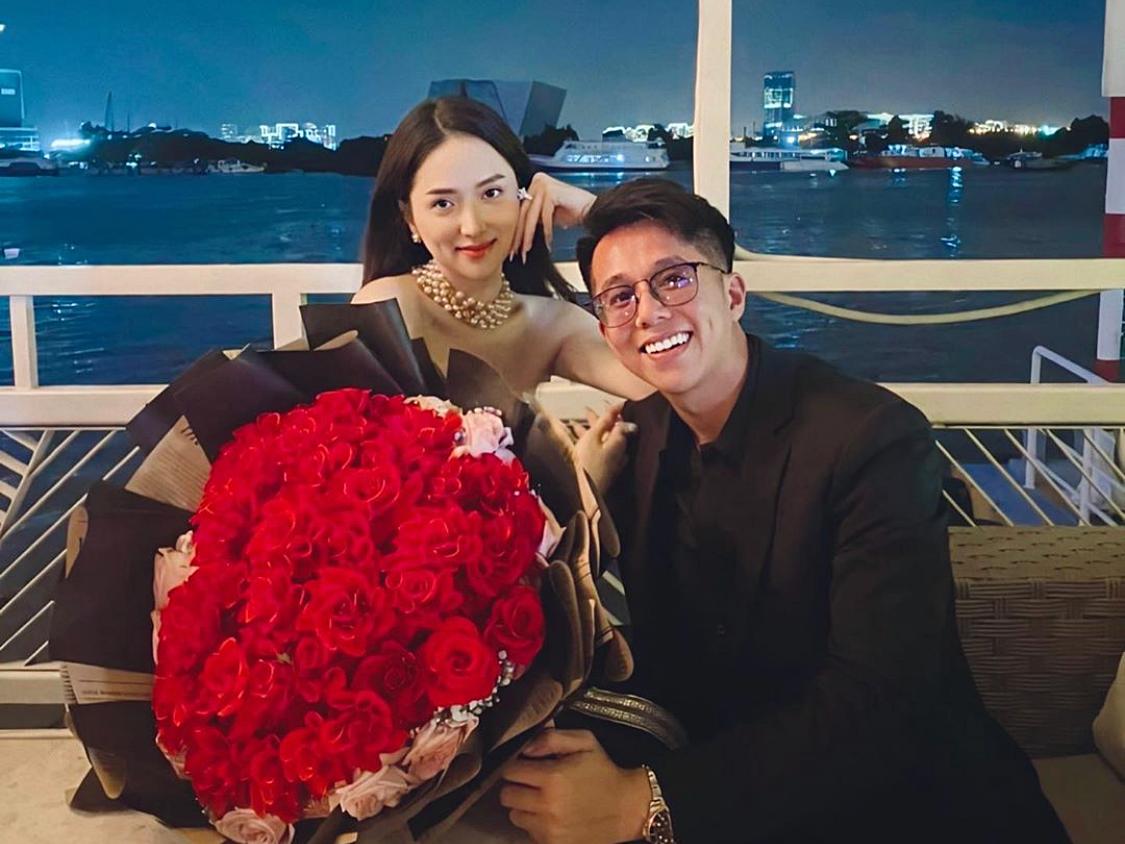 Hương Giang, Matt Liu hôn nhau trên du thuyền - Ngôi sao
