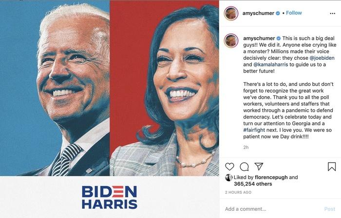 Sao Hollywood khóc mừng khi ông Joe Biden thắng cử tổng thống Mỹ