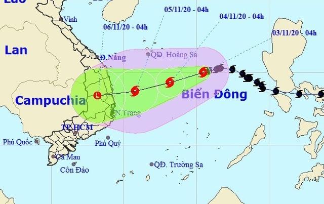 Bão số 10 hướng vào Quảng Ngãi đến Khánh Hòa